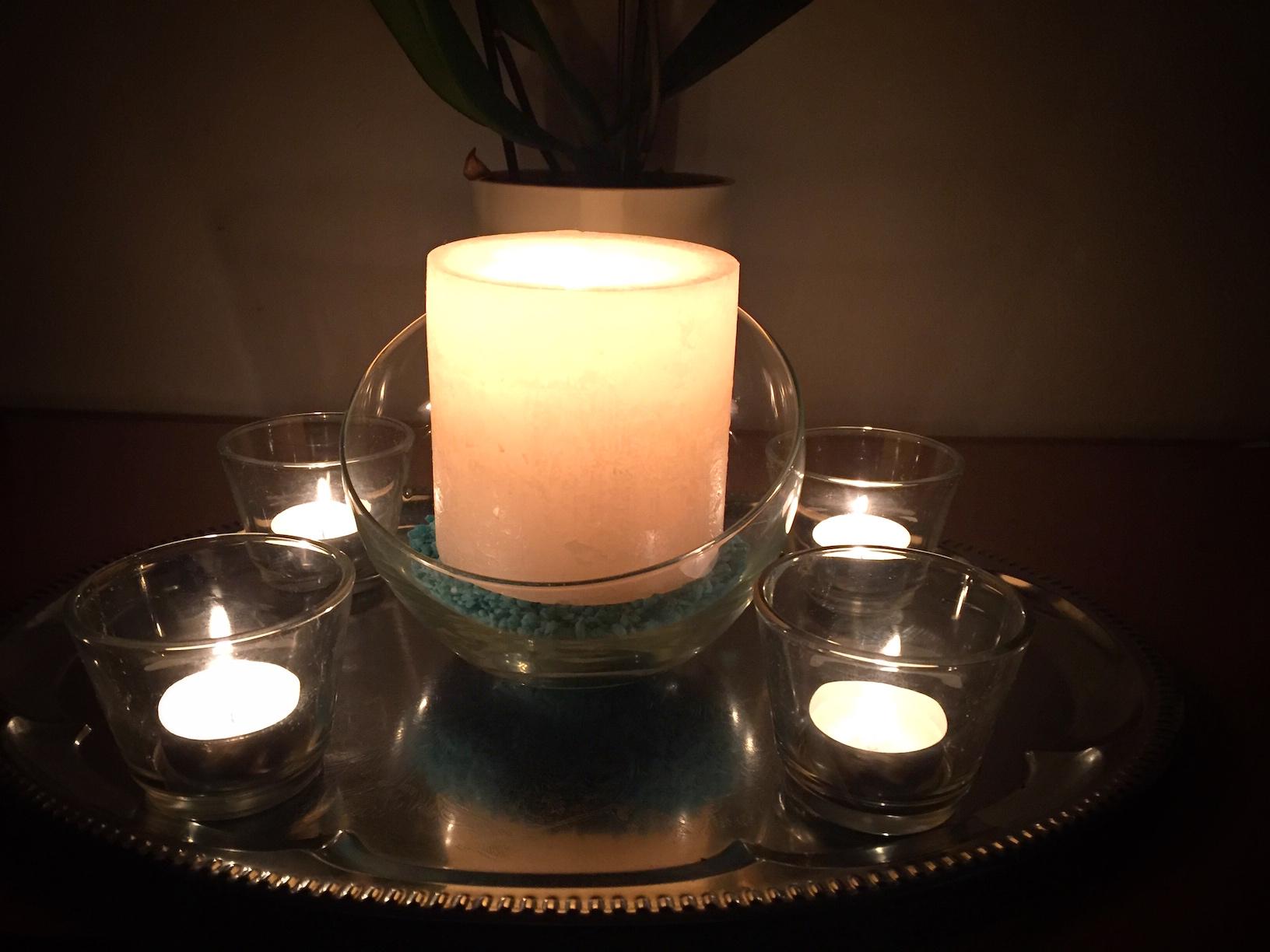 Papa, warum brennen Kerzen langsam runter?