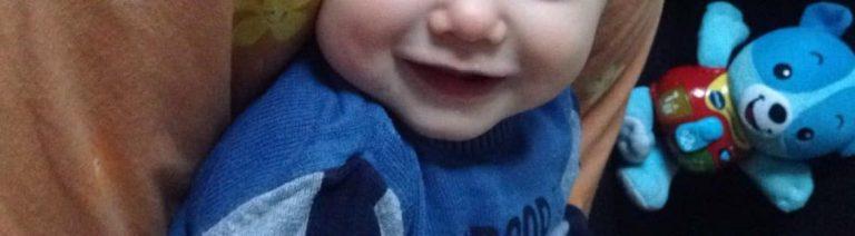 Papa, warum ist ein Babylachen so süß?