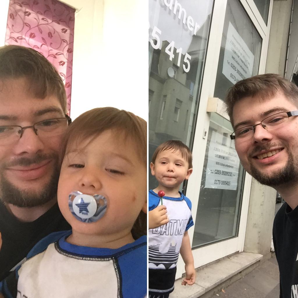 Mit dem Kind das erste mal beim Friseur